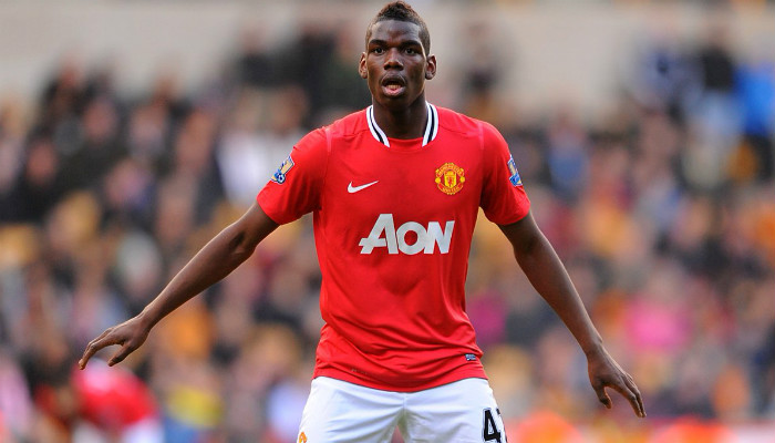 Pogba In United shirt (From 2012)