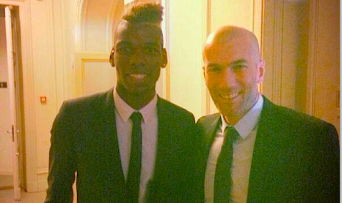 Pogba pic with Zidane