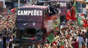 Portugal team arrives Lisbon with Euro 2 016 trophy 1