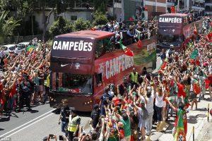 portugal team in lisbon The heroes return