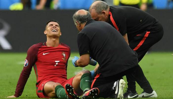 ronaldo knee injury