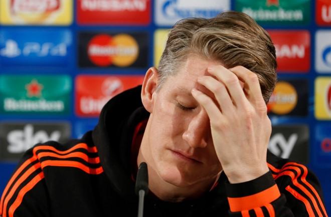 Manchester United's Bastian Schweinsteiger during club's Press Conference