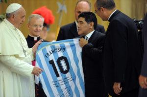 Diego+Maradona+Pope+Francis