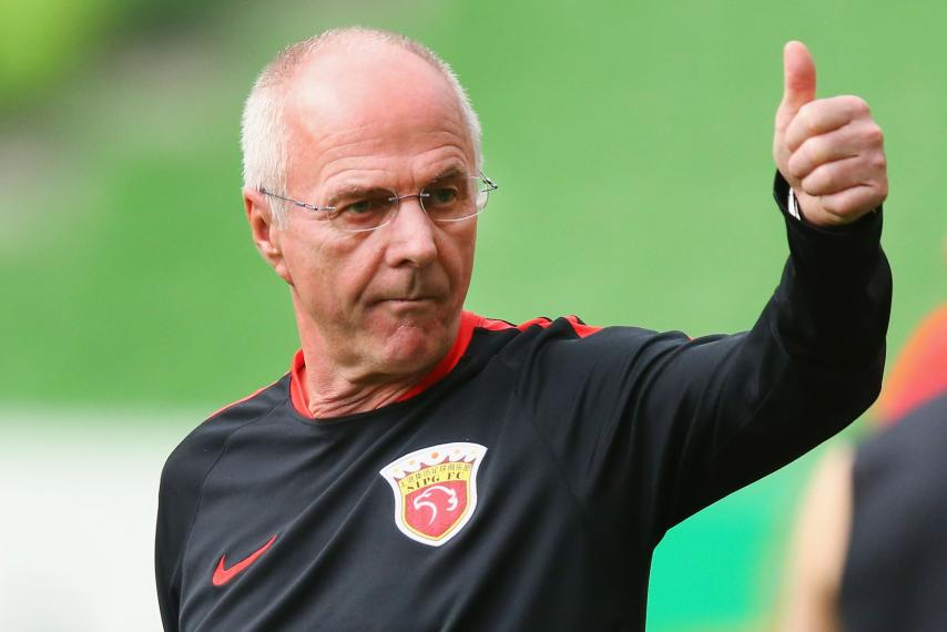 Sven Goran Eriksson is currently managing Chinese club Shanghai SIPG in CSL.