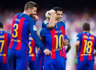 Suarez treble, Messi double destroy Real Betis
