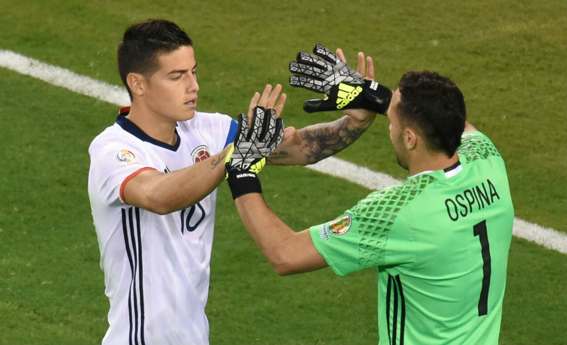 david ospina and James Rodriguez Colombia