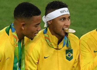 neymar brazil gold medal