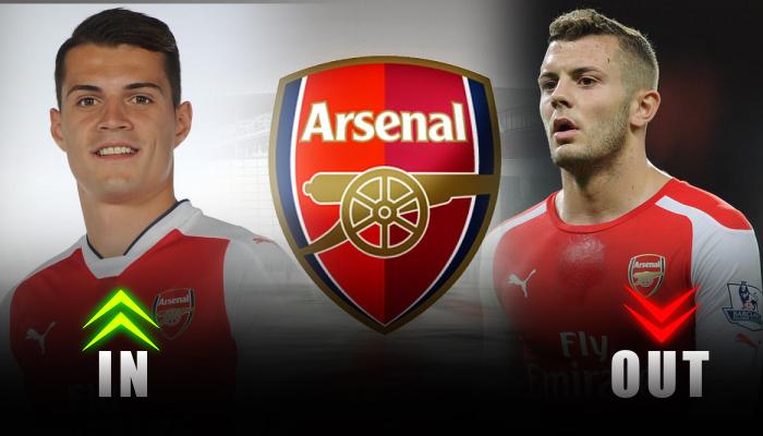 Arsenal-Granit Xhaka-Jack Wilshere