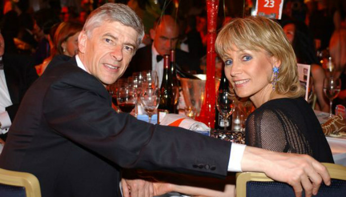 arsene-wenger-and-his-wife-annie-brosterhous