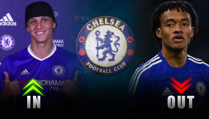 Chelsea-David Luiz-Juan Cuadrado