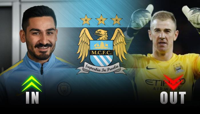 Manchester City- Ilkay Gundogan-Joe Hart