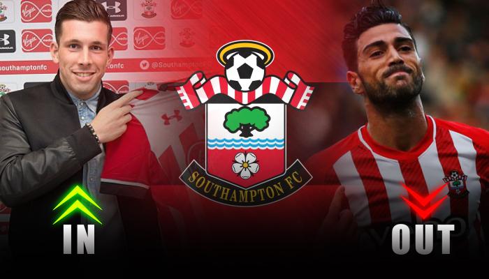 Southampton-Pierre-Emile Hojberg-Graziano Pelle