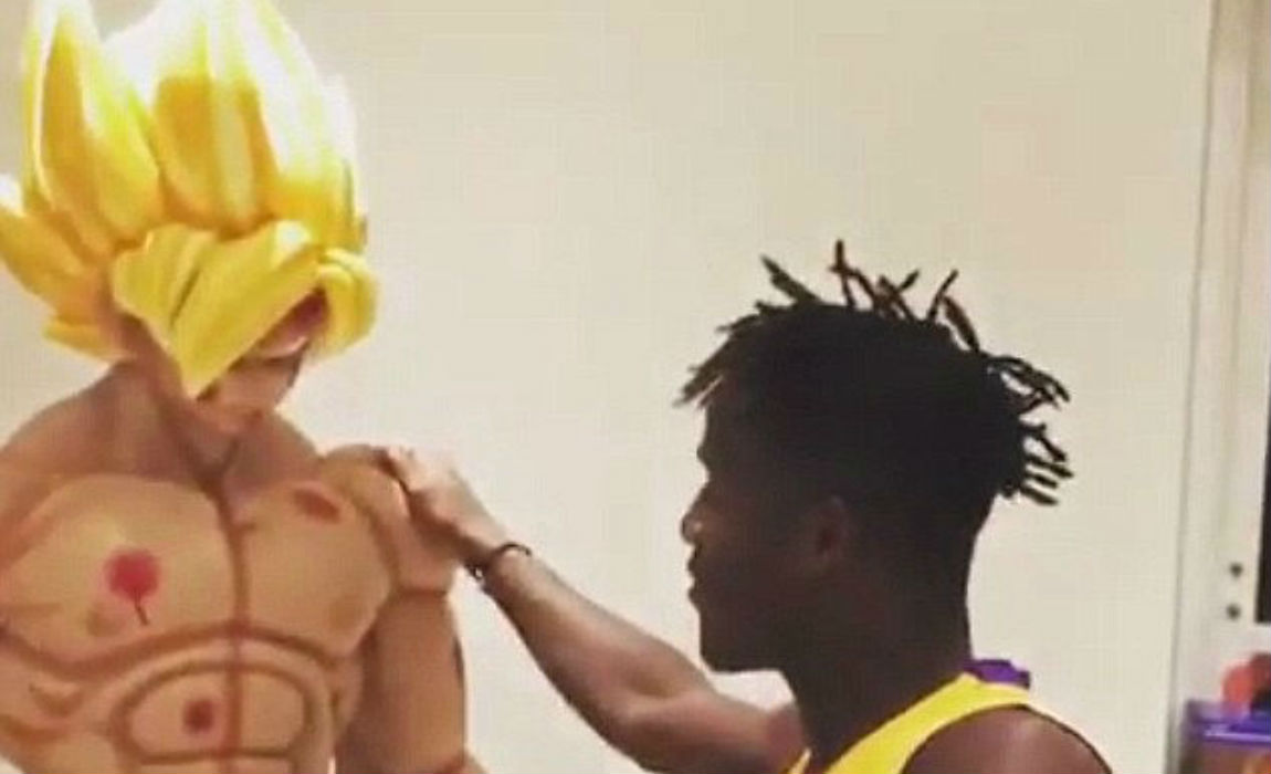 Chelsea S Michy Batshuayi Dances Around In His Personal Museum With Dragon Ball Z Statue