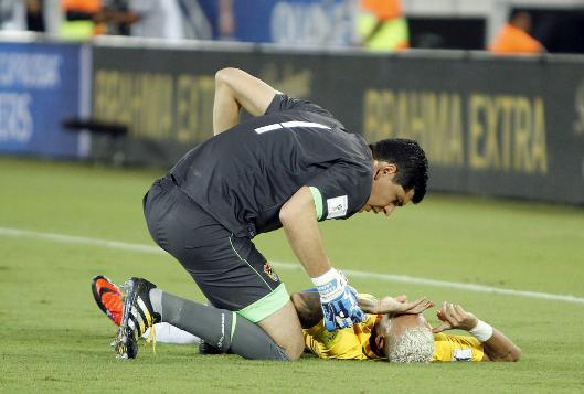 neymar jr bloody face inury