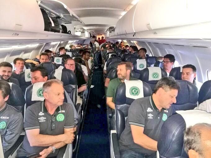 The last reported picture of Brazil''s Chapecoense Real football team who were in the plane crash in Colombia (Image Courtesy: Twitter)
