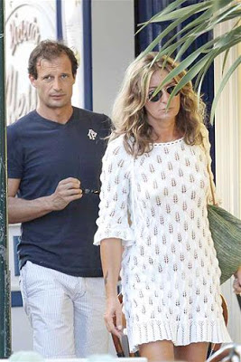 Allegri with his ex-wife