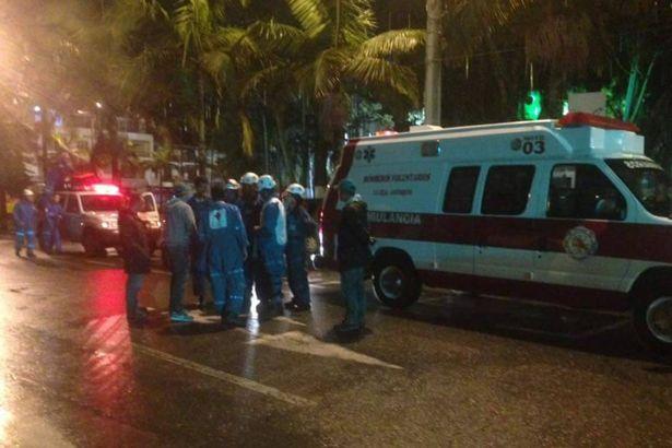 Emergency services gather at local hospital in Cerro Gordo in the municipality of La Union(Image Courtesy: Facebook/Aviación Comercial en Colombia)
