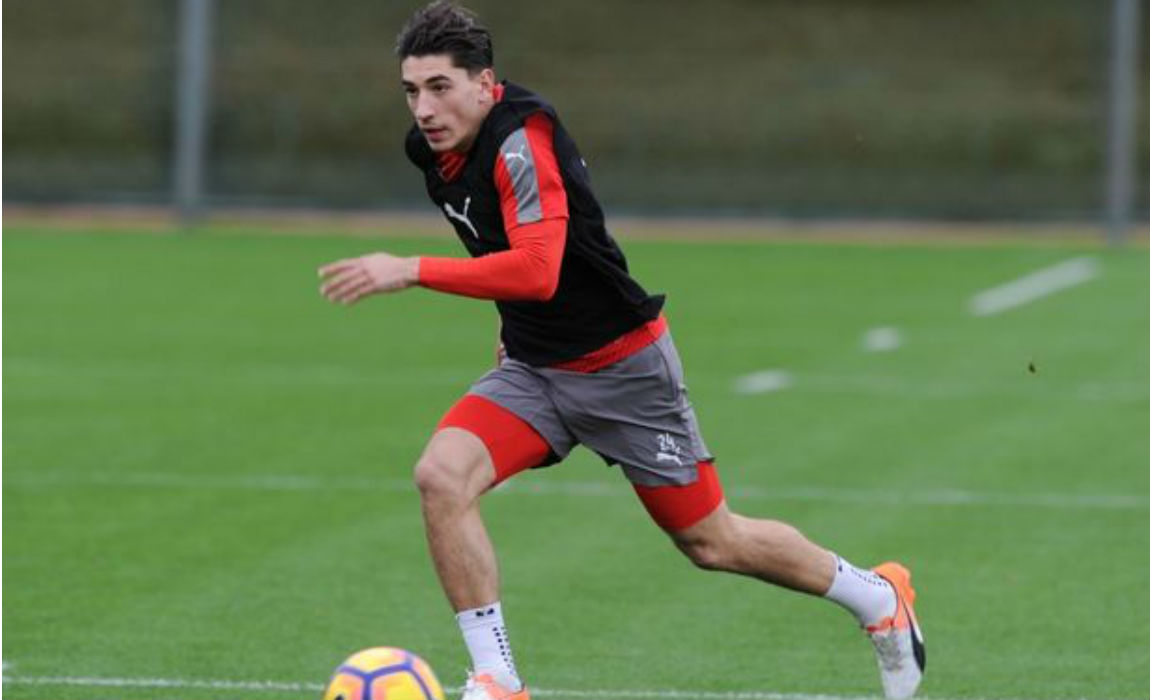 Arsenal Player Hector Bellerin Spotted With A Mystery Woman