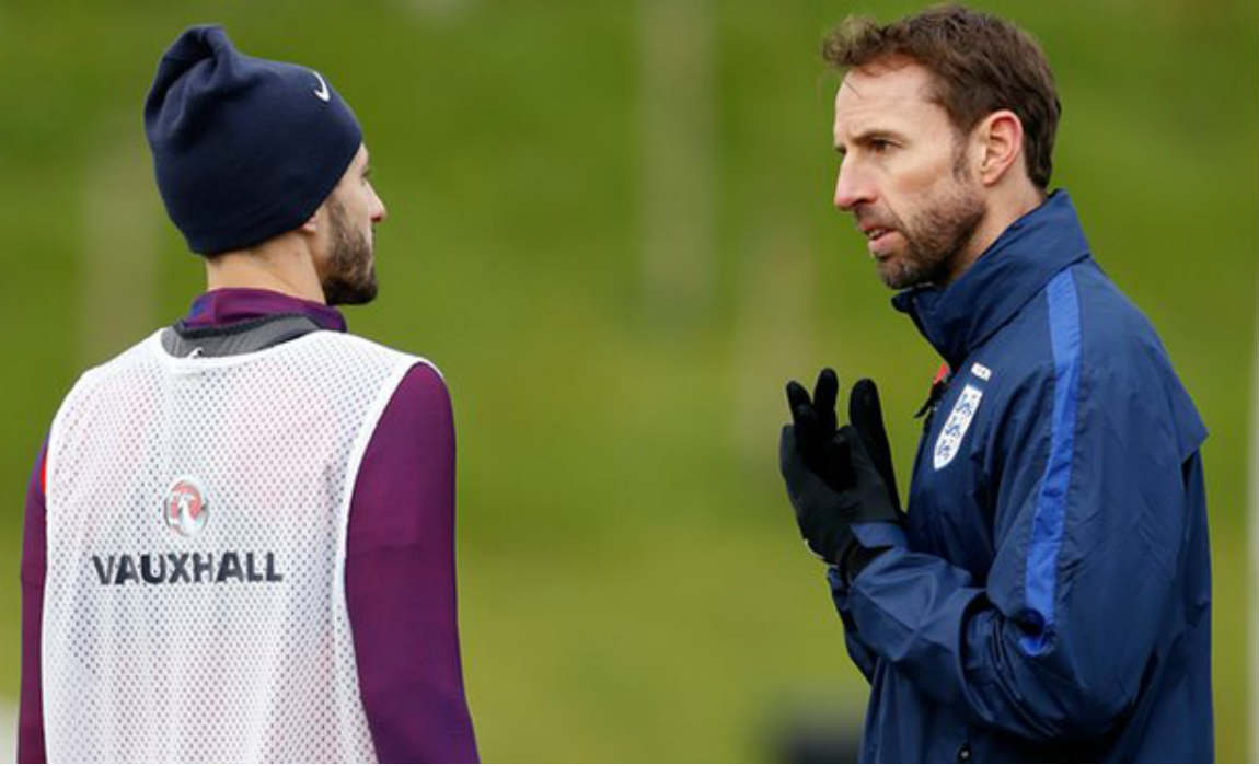lallana-with-southgate