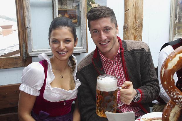 Lewandowski and his girlfriend