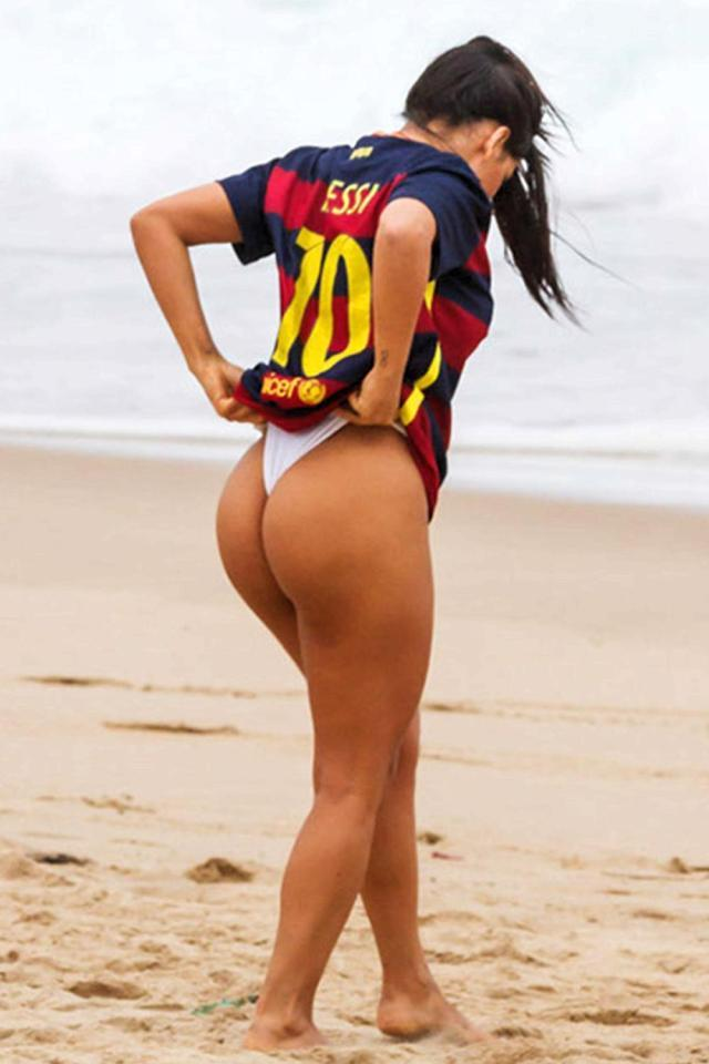 Miss BumBum recently dedicated this picture to Barca star Lionel Messi