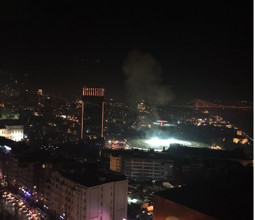 Istanbul explosions: CCTV shows moment of blast outside football stadium