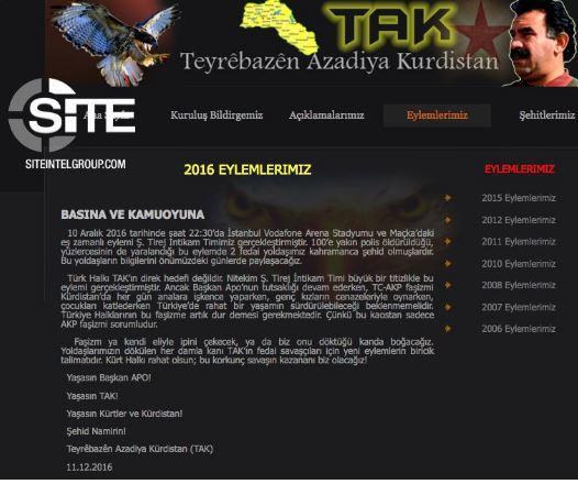 Kurdistan Freedom Falcons (TAK) is a break-away faction of the Kurdistan Workers' Party (PKK)