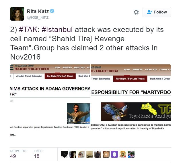 TAK also claimed responsibility for a terror attack last year at Istanbul's Sabiha Gökçen International Airport.
