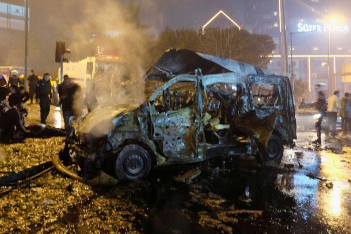 Car Bomb In Istanbul ouside besiktas football stadium