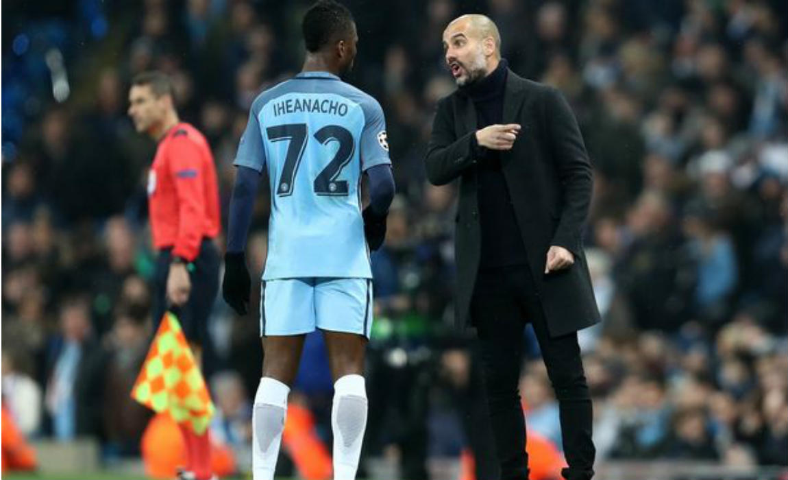 kelechi-iheanacho-with-pep-guardiola