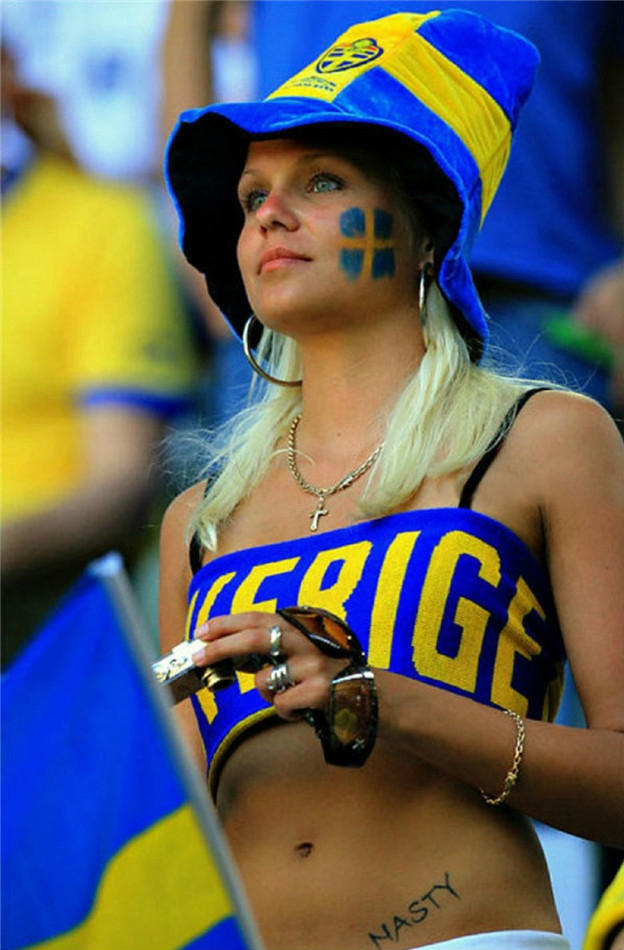 images, pictures and photos of sexiest and sexy Swedish girls and female Sweden Fans In World Cup 2018
