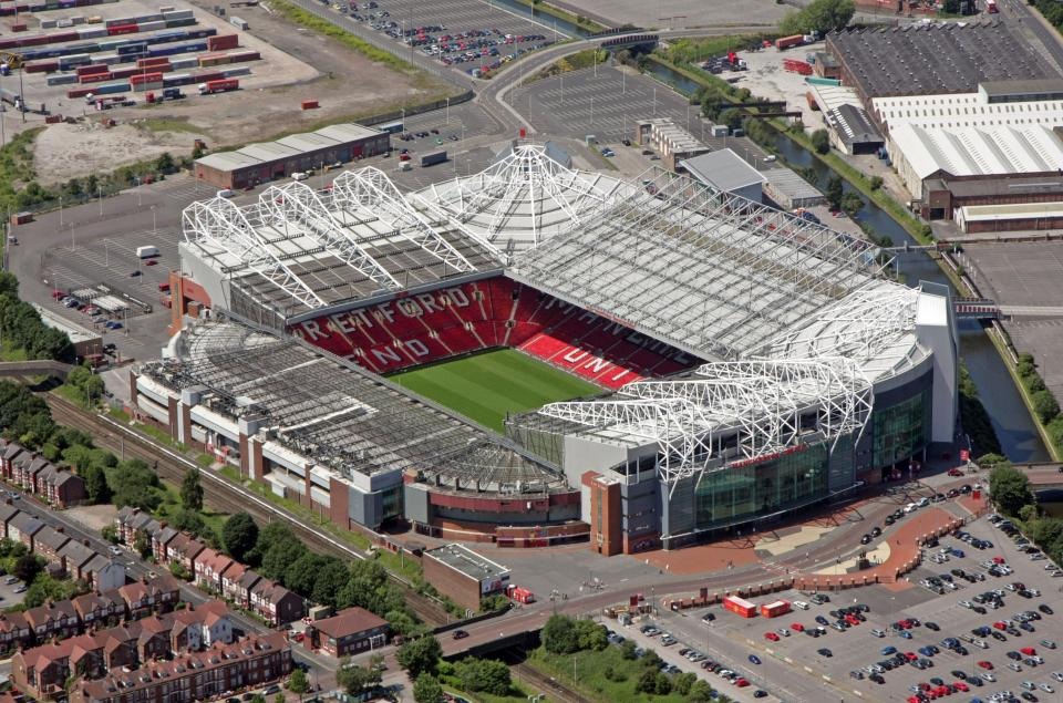 trafford stadium manchester aerial united football ground parking fc grounds alamy britain league park houses capacity planning cheapest quickest spaces