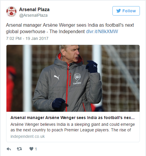 India Will Become The Next Footballing Powerhouse  Arsene Wenger