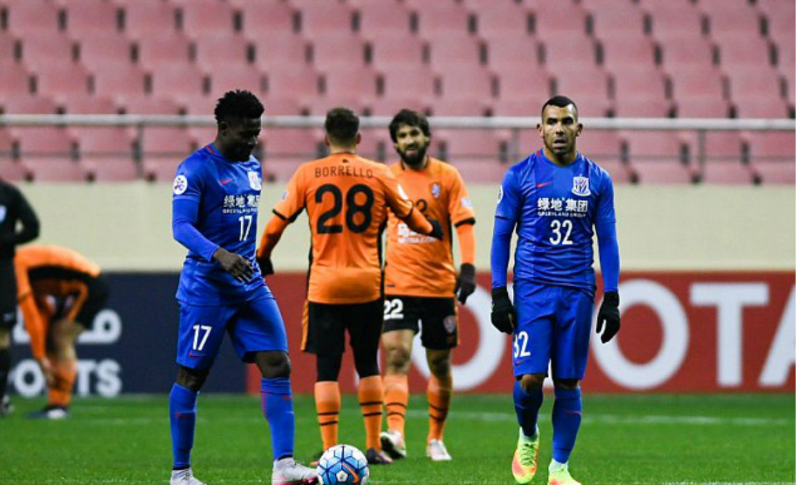 Worlds Highest Paid Footballer Carlos Tevez Experiences Nightmare Debut After Shenhua Lose AFC Champions League Play Off