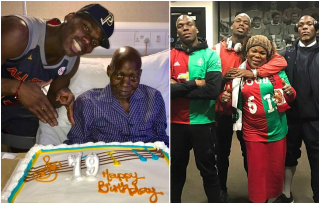Pogba Displays Family Values By Presenting Father With A Cake On His 79th Birthday