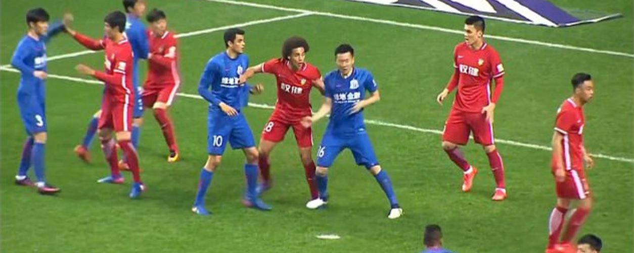 Shanghai Shenhua Player Fined £35,000 For Stamping On Axel Witsel During Chinese Super League Clash