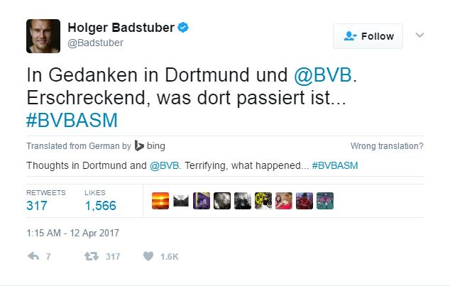Youll Never Walk Alone! Football World Stands United With Borussia Dortmund After Horrific Explosion