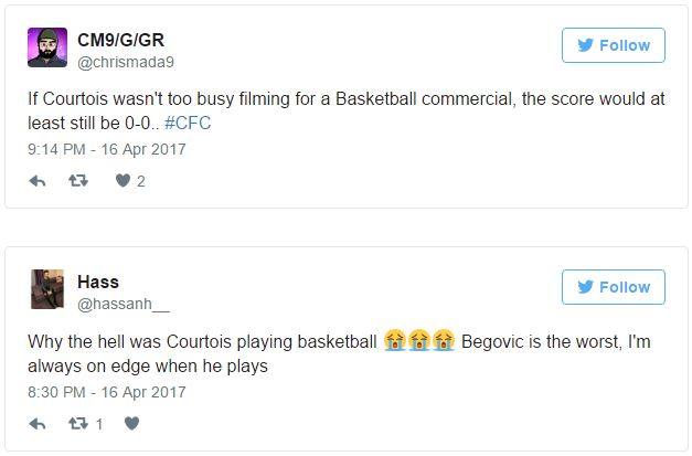 Chelsea Fans Fume As Thibaut Courtois Picks Up Ankle Injury After Club Force Him To Play Basketball