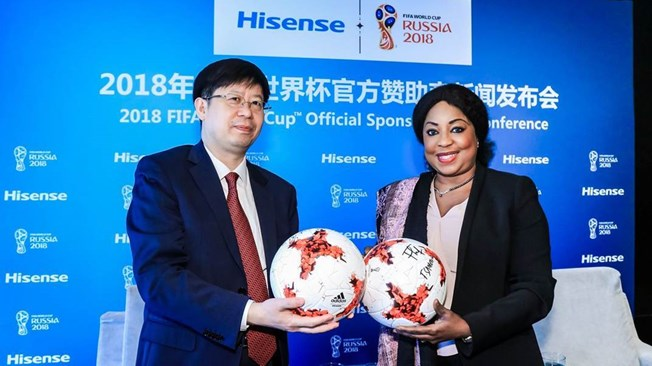 Chinese Electronics Giant Hisense Becomes Official Sponsor Of 2018 FIFA World Cup