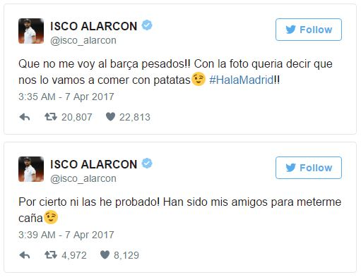 Isco Defends Instagram Photo Blunder As Real Madrid Star Reassures Fans He Is Not Joining Barcelona