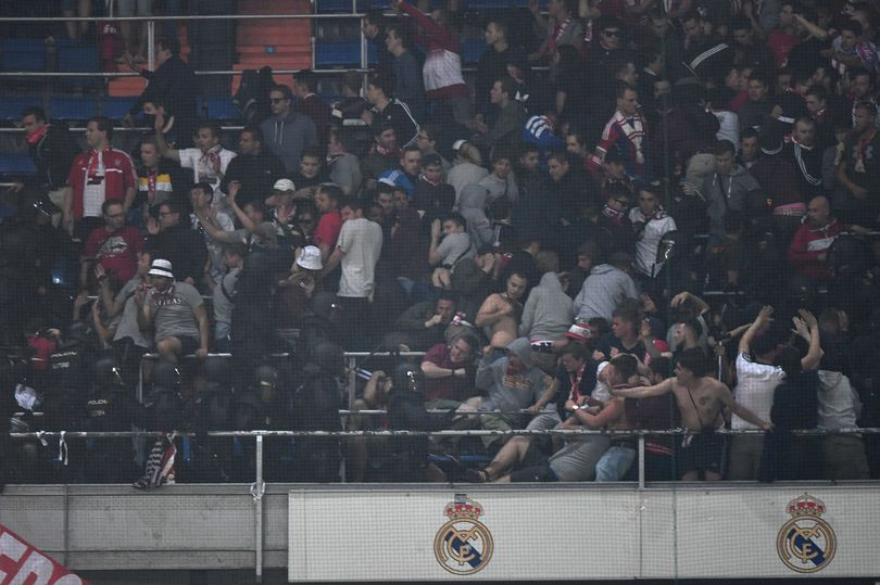Bayern Munich Fans Clash With Police During Champions League Clash In Madrid