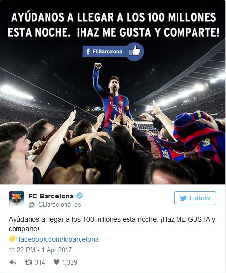 Real Madrid And Barcelona Locked In Hilarious War To 100M Facebook Likes