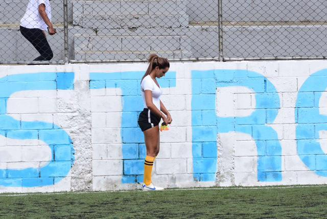 Brazilian Football Has A New Idol In Stunning Lines Woman Denise Bueno   Whose Kit Includes A Wet T Shirt
