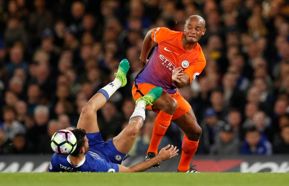 Diego Costa Will NOT Face FA Action Over Vincent Kompany Kick During Chelseas Win Over Man City