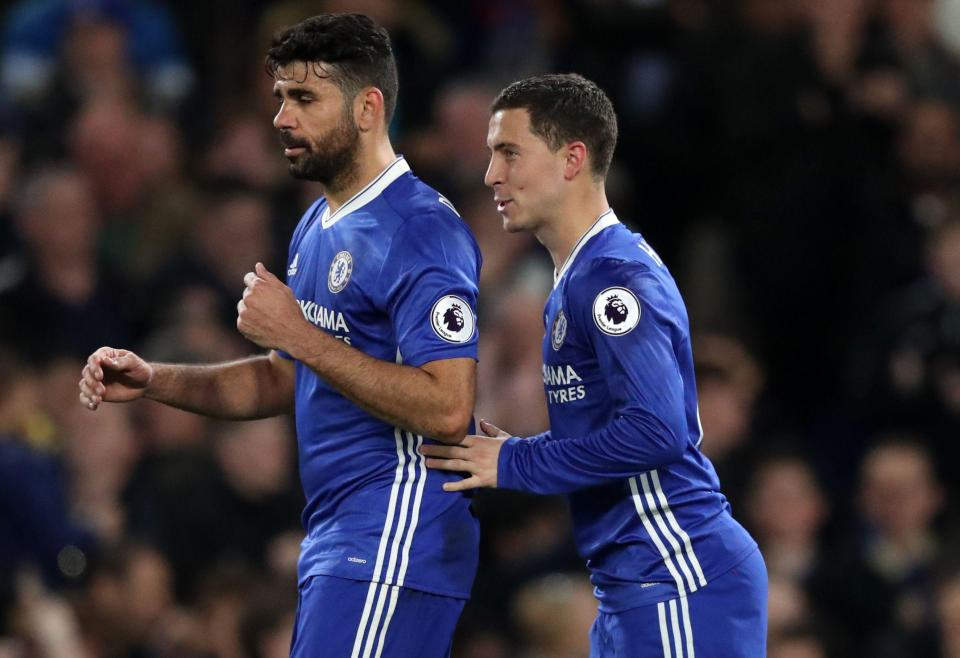 Chelsea Face £200m Blow With BOTH Diego Costa And Eden Hazard Set To Quit Club