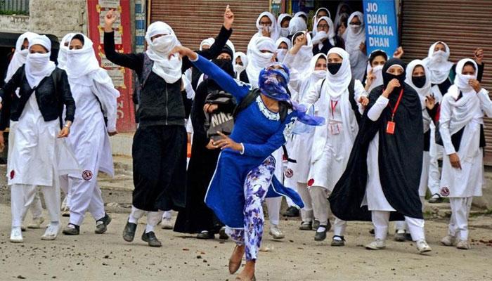 Image result for Kashmiri girl beaten by police