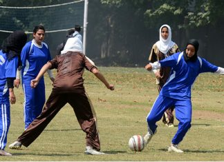 kashmir girl pelted stones football