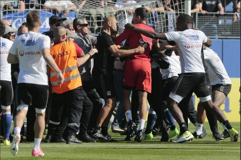 Lyon Chief Thanks Faultless Bastia Players For Protecting Depay And Co As Match Was Called Off Due To Pitch Invasions