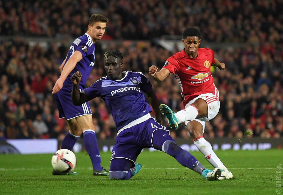 Rashfords Goal Helps Manchester United Enter Europa League Semi Final Beating Anderlecht 2 1