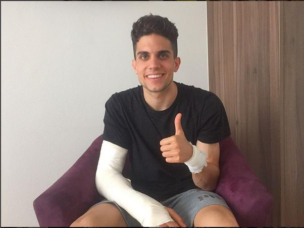 Barcelona Stars Jordi Alba And Sergio Busquets Visit Former Teammate Marc Bartra As He Continues Recovery From Bomb Attack Injury